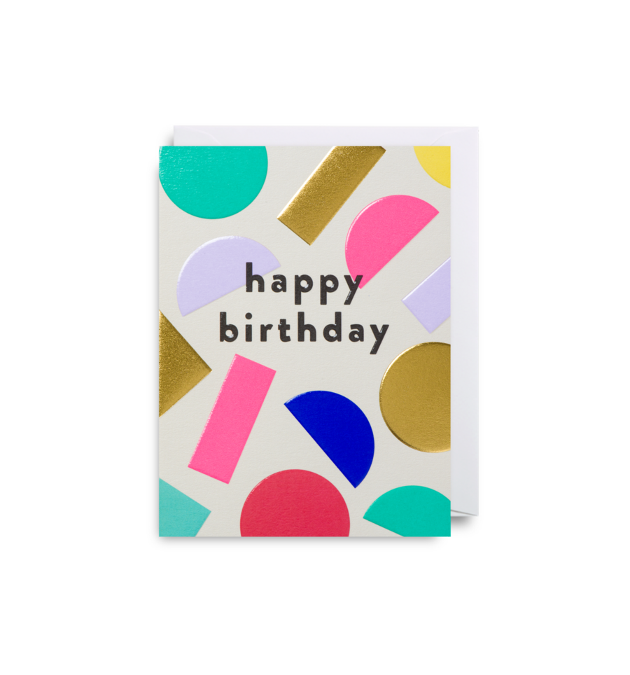 Throw Some Shapes: Birthday Card