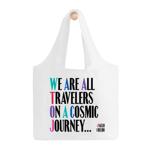 We Are All Travelers Fold-Up Bag