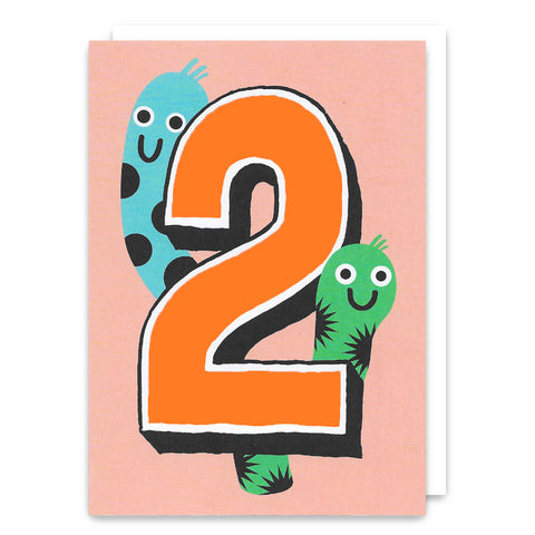 Worms Age 2 Birthday Card