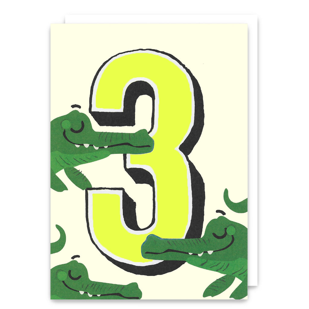 Crocs Age 3 Birthday Card