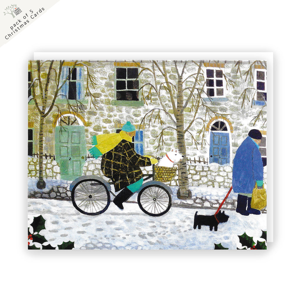 Snowy Street Charity Christmas Card 5 Pack