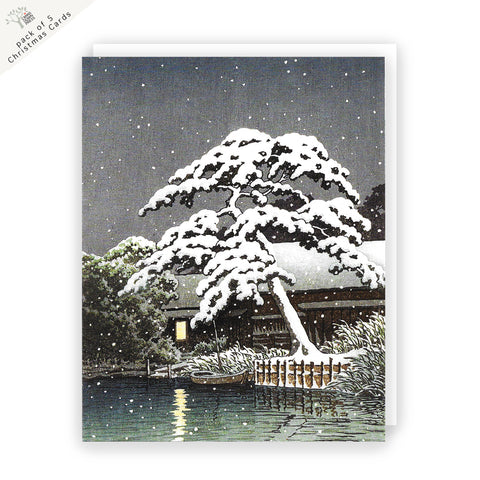 Snow at Funabori Christmas Card Pack