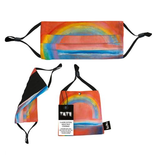 TATE Rainbow Painting 3 Layer Adult Face Covering