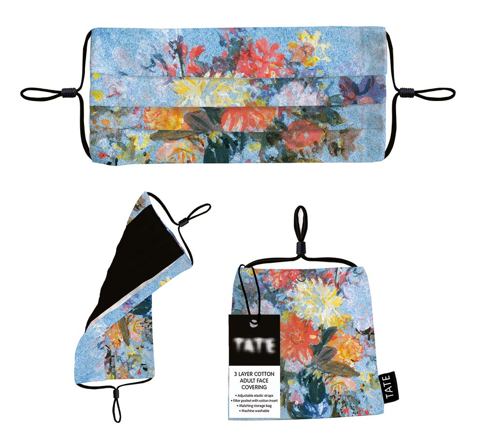 "TATE ""A Vase of Lilies, Dahlias and Other Flowers ""3 Layer Adult Face Covering"