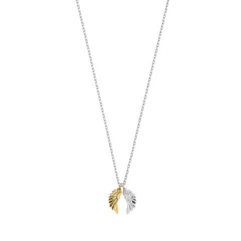 Estella Bartlett Wings Gold and Silver Plated Necklace