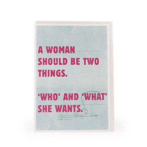 A Woman Should Be Two Things