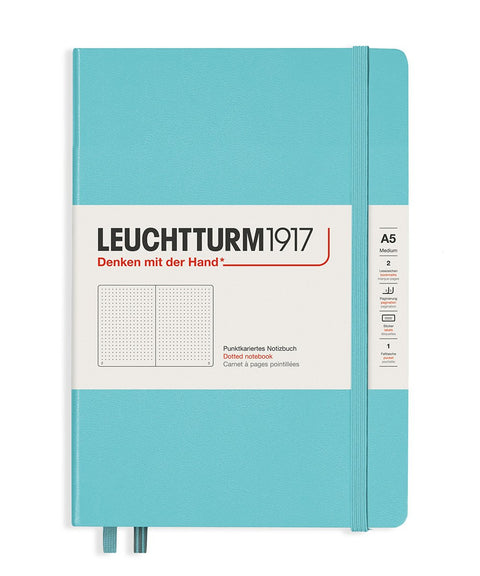 Leuchtturm 1917 Hardcover Notebook Medium Dotted Aquamarine