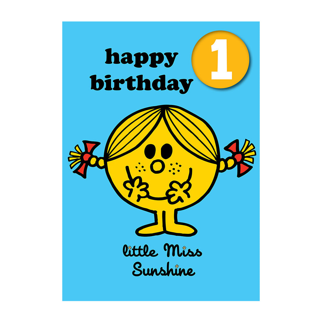 Little Miss Sunshine Happy 1st Birthday