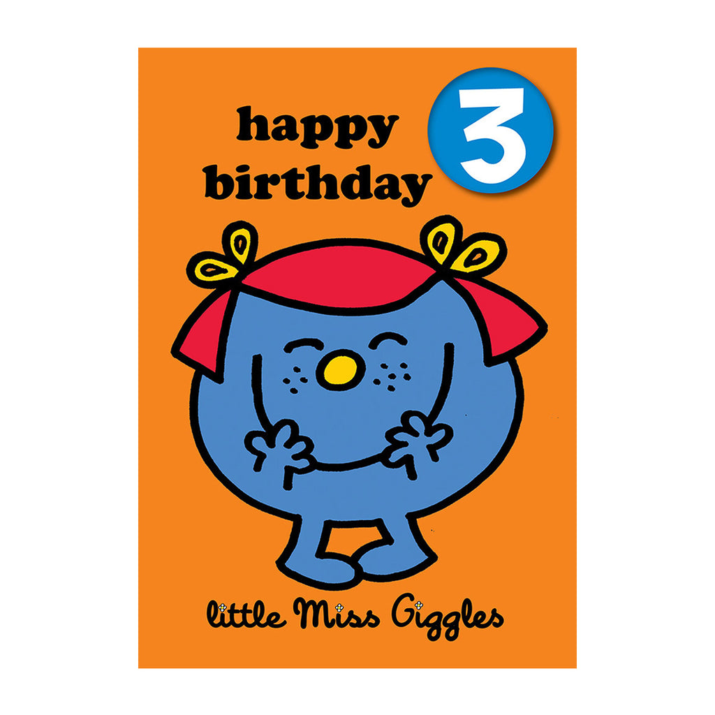 Little Miss Giggles Happy 3rd Birthday
