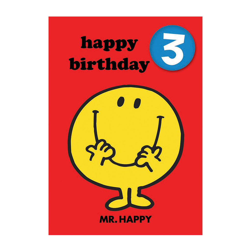 Mr Happy Birthday Card with Badge