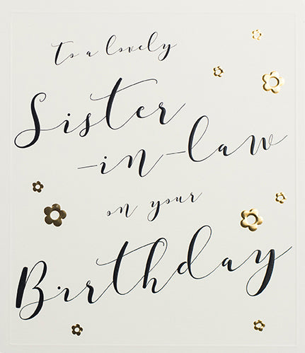 Sister-in-Law on Your Birthday