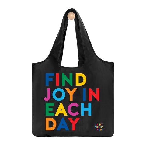 Find Joy In Each Day Fold-Up Bag
