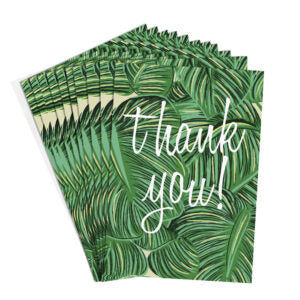 Palm Leaves Thank You Cards