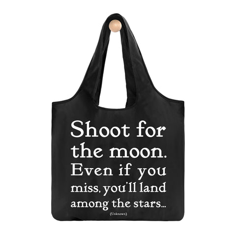 Shoot For The Moon Fold-Up Bag