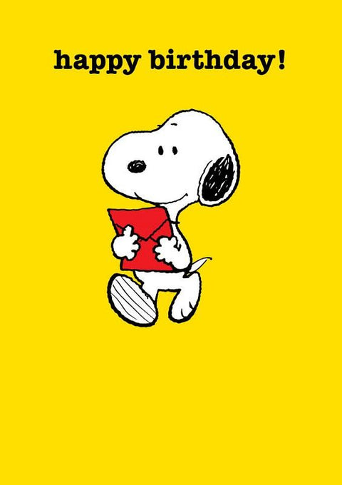 Snoopy With A Letter