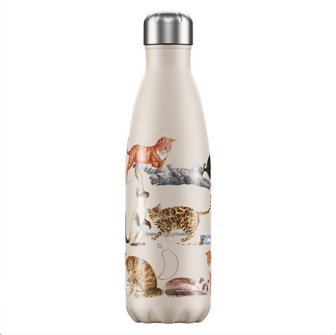 Chilly's and Emma Bridgewater Cats Water Bottle 500ml