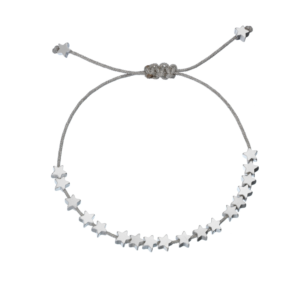 Estella Bartlett Stars Silver Plated and Grey Bracelet