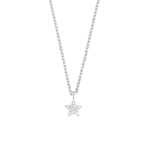 Estella Bartlett CZ Star Silver Plated Necklace