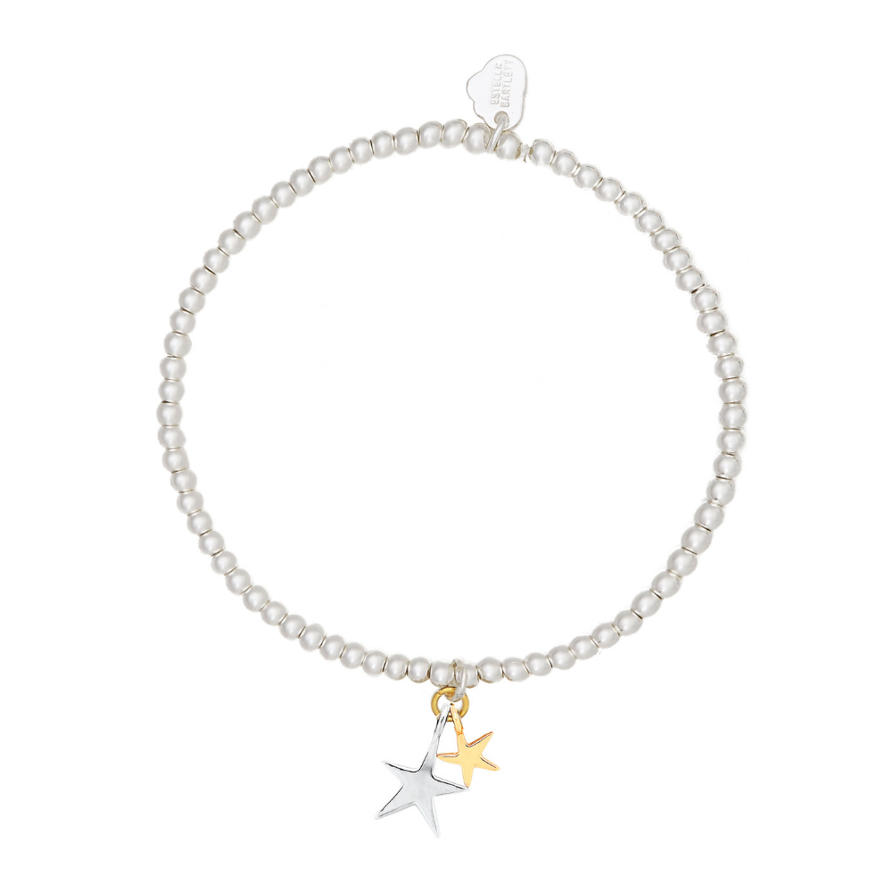 Estella Bartlett Double Star Gold and Silver Plated Bracelet