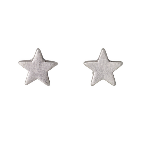 Ava Star Silver Plated Stud Earrings