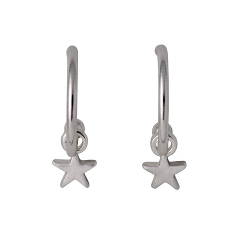 Ava Star Pendant Silver Plated Earrings
