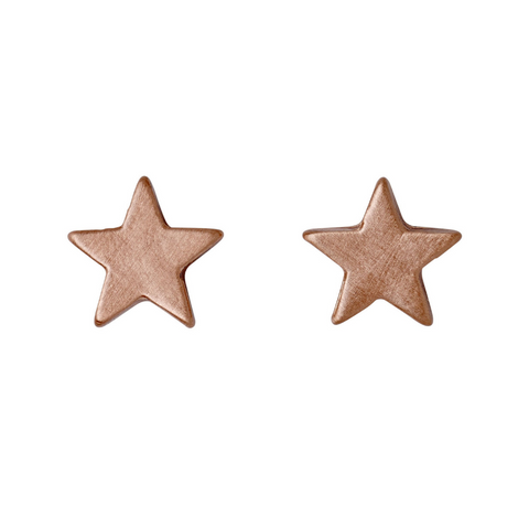 Ava Star Rose Gold Plated Stud Earrings