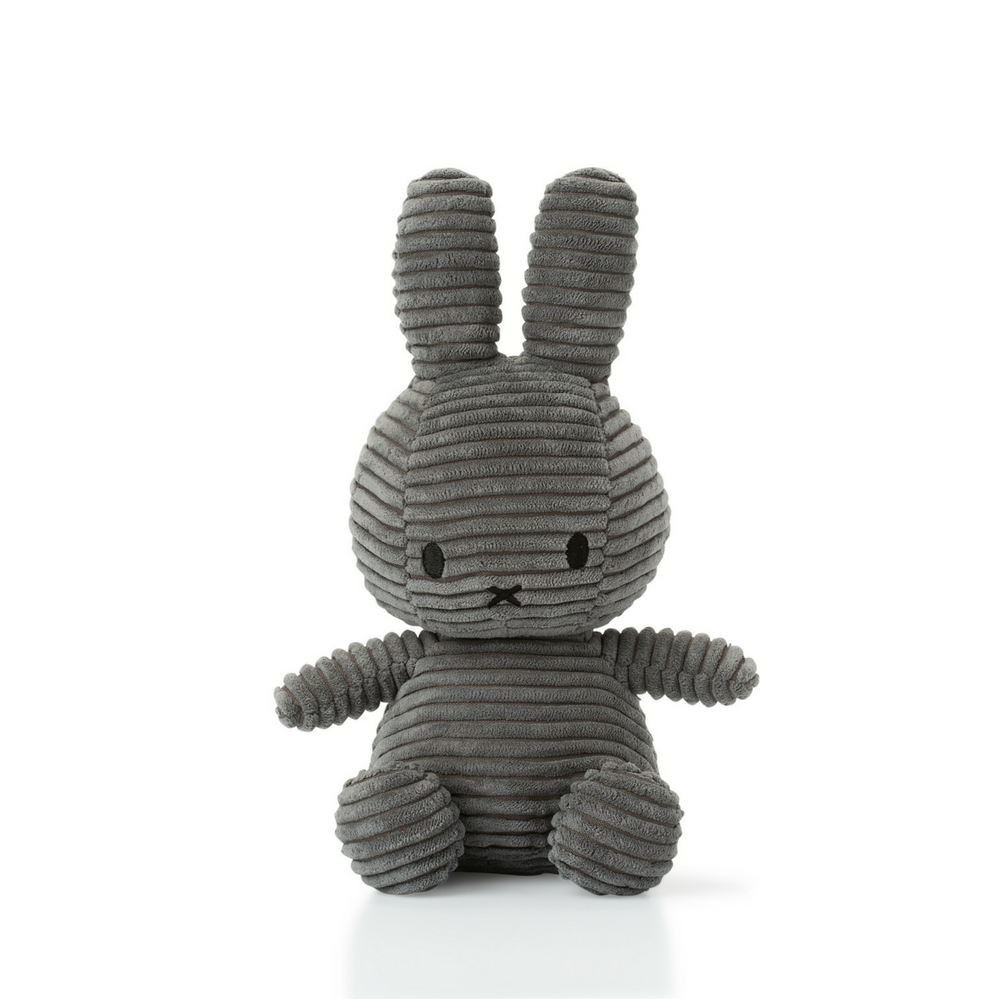 Miffy Grey Corduroy Soft Toy