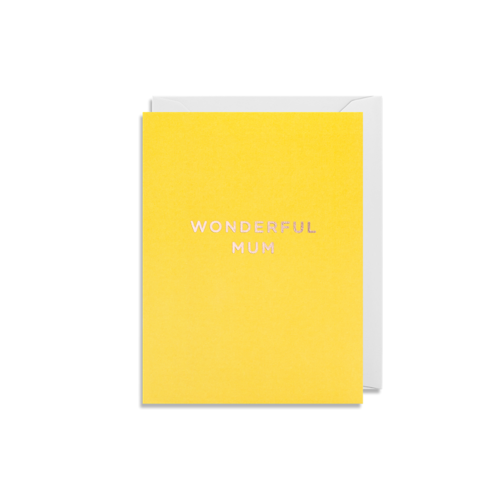 Wonderful Mum Mini Card