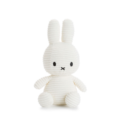 Miffy White Corduroy Soft Toy