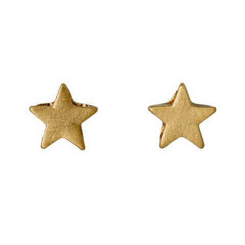 Ava Star Gold Plated Stud Earrings