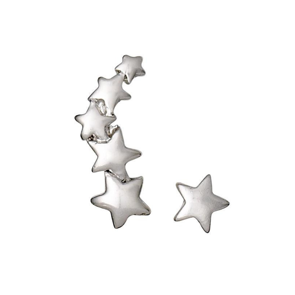 Ava Star Crawler Silver Plated Earrings