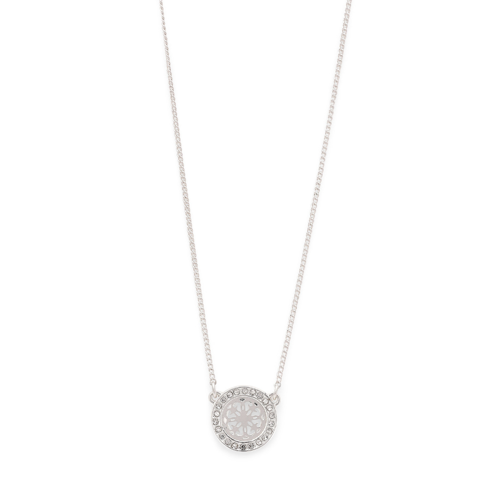 Henrietta Silver Plated and Crystal Necklace