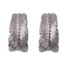 Lauren Boho Feather Silver Plated Earrings