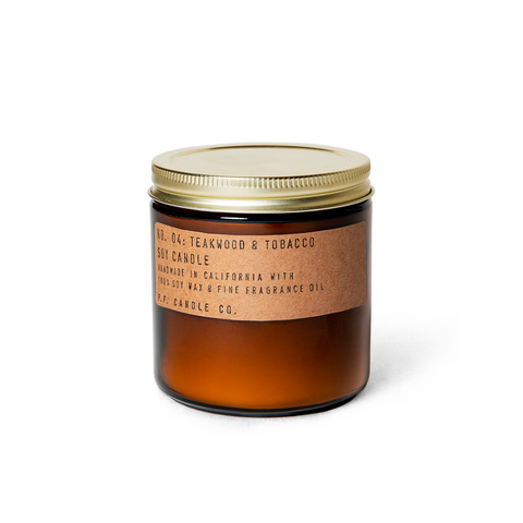 Teakwood and Tobacco Scented Candle