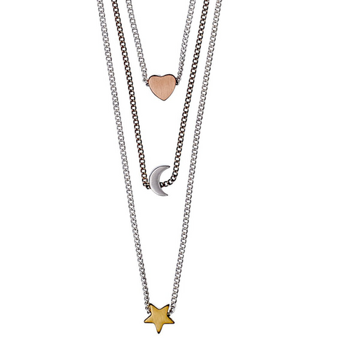 Anna Mixed Metals Charm Necklace