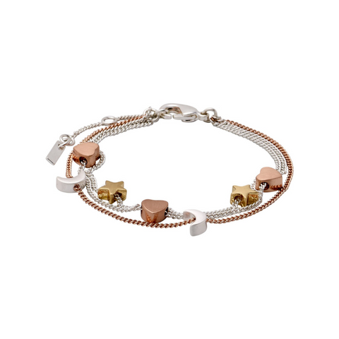 Anna Mixed Metals Charm Bracelet