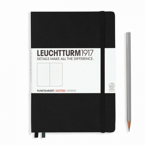 Leuchtturm 1917 Notebook Medium Dotted Black