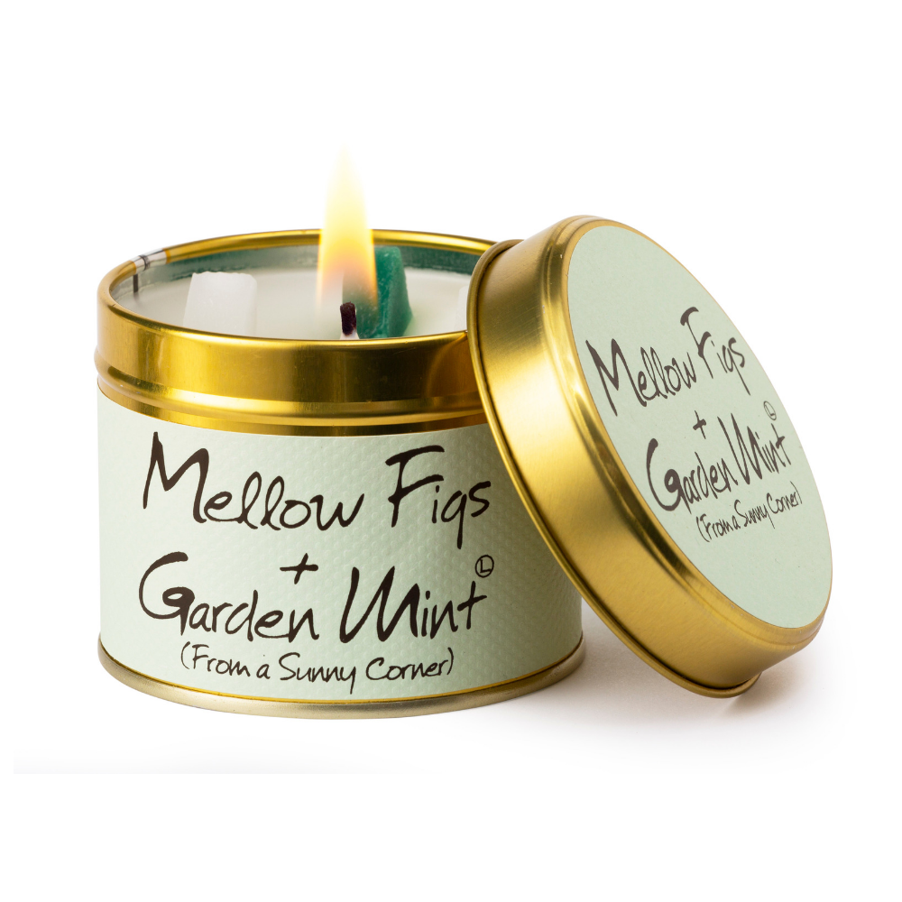 Lily Flame Mellow Figs and Garden Mint Scented Tin Candle