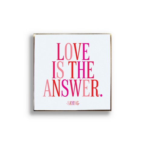 Love Is The Answer Pin Badge