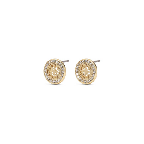 Henrietta Gold Plated and Crystal Stud Earrings