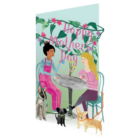 Somewhere Tea With Pooches Lasercut Mother's Day Card