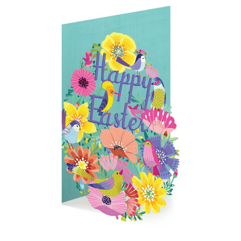 Summer Forrest Little Birds Lasercut Easter Card