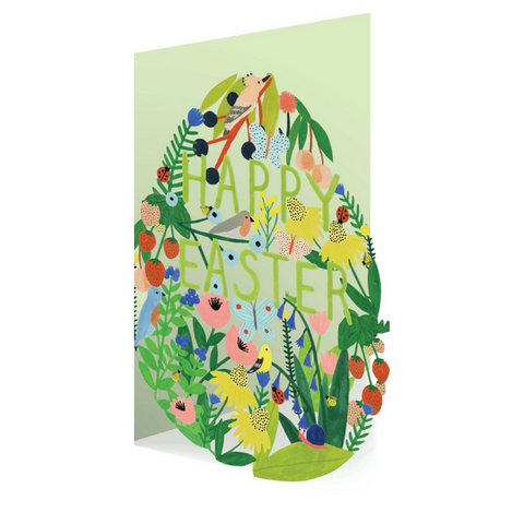 Spring Garden Egg Lasercut Easter Card