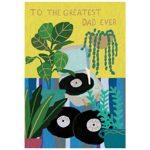 Glass Menagerie Record Player Father's Day Card