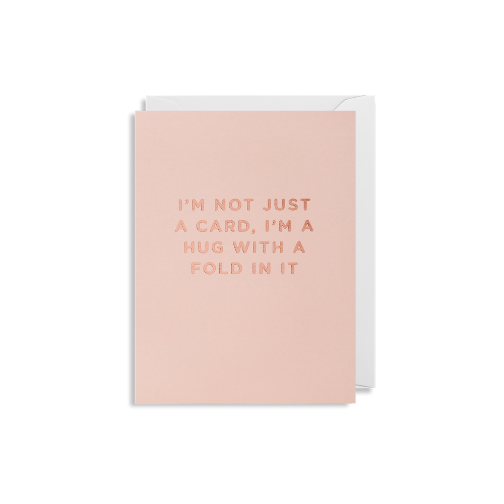 Hug With A Fold Mini Card