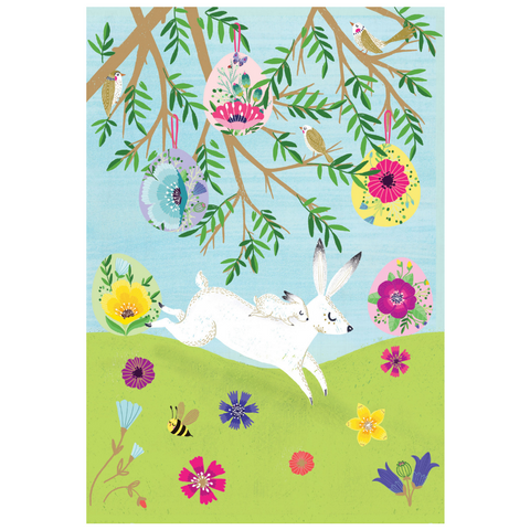 Summer Forrest Mother Rabbit Easter Card