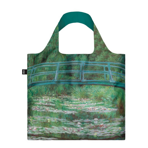 Loqi Claude Monet's Japanese Footbridge Tote Bag