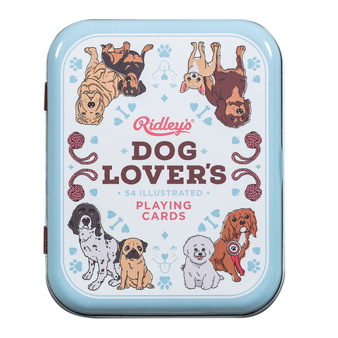 Dog Lover's Playing Cards and Tin
