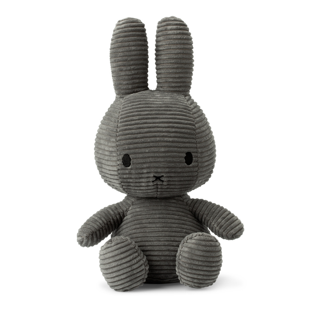 Miffy Large Grey Corduroy Soft Toy