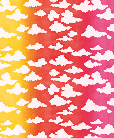 Cloudy Sky at Sunset Dress Fabric